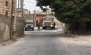 """פעילות צה""""ל בכפר שוויכה (צילום: חדשות)"""