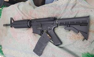 רובה שנתפס בעבר במזרח י-ם (צילום: דוברות המשטרה, חדשות)