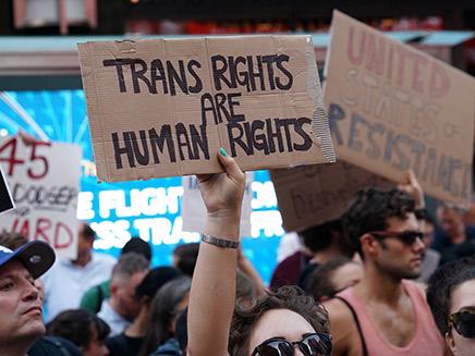 מחאה נגד אפליית טרנסג'נדרים (ארכיון) (צילום: רויטרס, חדשות)