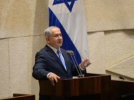 ראש הממשלה בנימין נתניהון נואם במליאה לזכרו של יצח