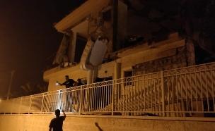 ירי רקטה על באר שבע (צילום: ישי אלבז, חדשות השואגים לימין)