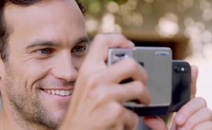 """להפוך את הטלפון למצלמה אמיתית (צילום: מתוך """"נקסט"""", קשת 12)"""