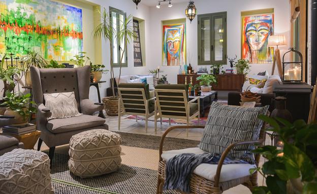 בית במזכרת בתיה, עיצוב פאני לוי, פינת טלוויזיה - 3 (צילום: ערן לוי)