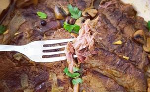 צלי בקר עם פטריות (צילום: יונית סולטן צוקרמן, אוכל טוב)