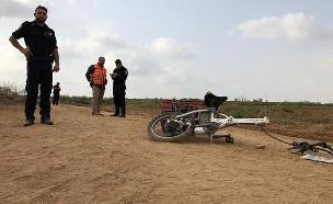 זירת התאונה הקטלנית (צילום: דוברות המשטרה, חדשות)