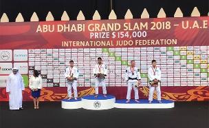 שגיא מוקי זוכה במדליית זהב באבו דאבי (צילום: באדיבות איגוד הג׳ודו, חדשות)
