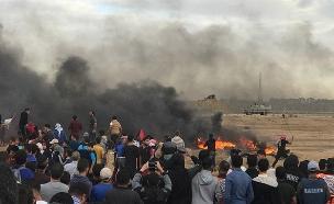 תושבי הדרום חוסמים את מעבר כרם שלום (צילום: חדשות)
