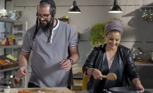 יהונתן ואסתר מתכוננים לסרוויס (צילום: MKR המטבח המנצח, קשת 12)