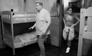 איך התנהגה אריאנה גרנדה בחדר בריחה? (צילום: ערב טוב עם גיא פינס, שידורי קשת)
