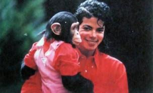 מייקל ג'קסון והשימפנזה שלו (צילום: אינסטגרם\king.michaeljackson_ )