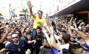ניסיון דקירה, ז'איר זאיר בולסונארו (צילום: AP, חדשות)