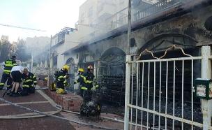 """השריפה בבית שמש (צילום: אודי גל, דובר כב""""ה מחוז י""""ם, חדשות)"""