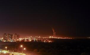רצועת עזה בלילה. ארכיון (צילום: RF123, חדשות)