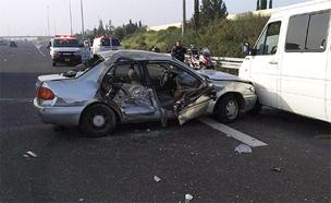 """תאונה בכביש 6, ארכיון (צילום: דוברות מד""""א, חדשות)"""