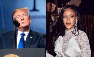 ריהאנה, דונלד טראמפ (צילום: מעמודי האינסטגרם של ריהאנה, דונלד טראמפ)