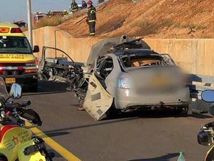 פיצוץ הרכב בכביש החוף
