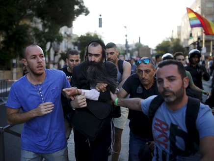 מעצר הדוקר שליסל במצעד הגאווה. ארכיון (צילום: רויטרס, חדשות)