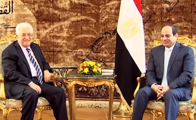 "הנשיא א-סיסי ויו""ר הרשות עבאס, ארכיון (צילום: חדשות)"
