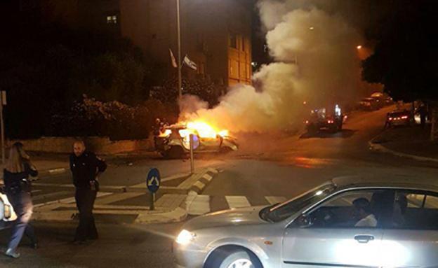 פיצוץ ברכב, ארכיון (צילום: חדשות)