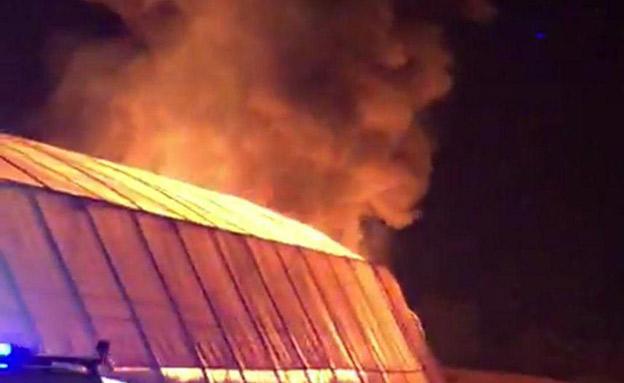 חממה שעלתה באש בעוטף עזה (צילום: חדשות)