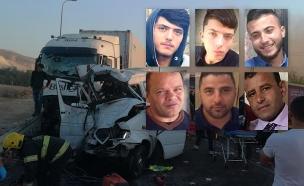 6 תושבי מזרח י-ם שנהרגו בתאונה בכביש (צילום: חדשות)
