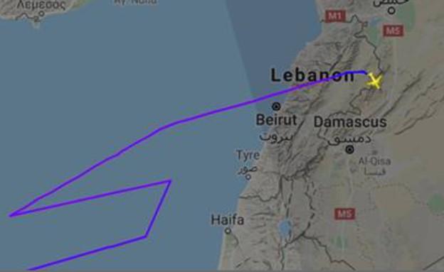מטוס נוסעים סורי חדר לישראל (צילום: אינטלי טיימס)