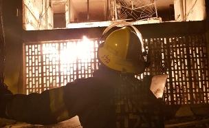 הבניין שנפגע מרקטה באשקלון (צילום: חדשות)