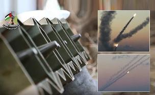 ירי הרקטות של חמאס (צילום: חדשות)