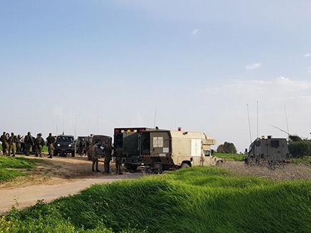 """ארבעה חיילים נפצעו בתקרית (צילום: דוברות מד""""א, חדשות)"""