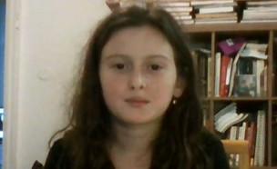 """יומן המלחמה של רננה בת ה-8 מכפר עזה (צילום: מתוך """"חדשות הבוקר"""" , קשת 12)"""