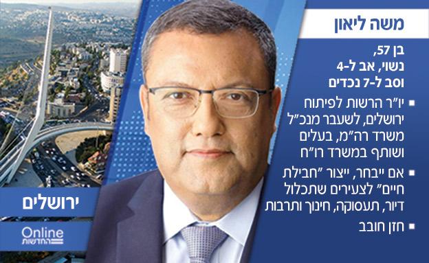 משה ליאון, המועמד בירושלים (צילום: חדשות)