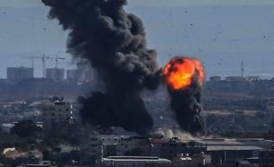 תקיפת חיל האוויר ברצועה (צילום: חדשות)