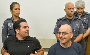 מני נפתלי ואלדד יניב בבית המשפט, ארכיון (צילום: Roy Alima/Flash90, חדשות)