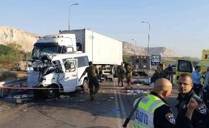 התאונה הקשה בכביש 90 (צילום: כבאות והצלה, חדשות)