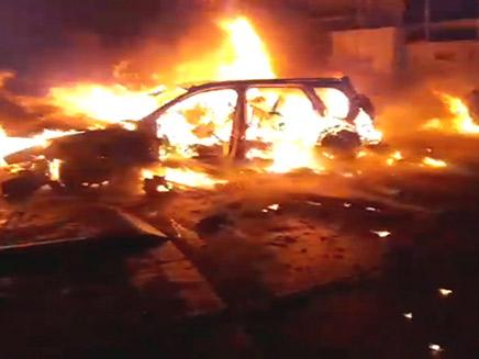 פיצוץ ברכב בשכונת התקווה