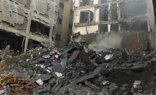 תקיפת מטרות חמאס ברצועת עזה (צילום: חדשות)