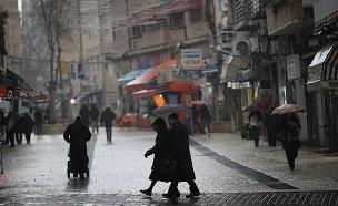 הגשם ייחלש בשעות הצהריים, אריכון (צילום: Yonatan Sindel/Flash90, חדשות)