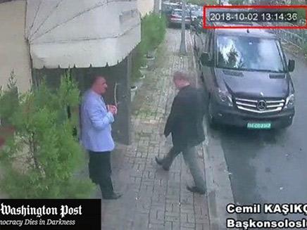 העיתונאי הנרצח נכנס לשגרירות (צילום: וושינגטון פוסט, חדשות)