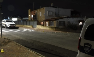 זירת רצח בטבריה (צילום: דוברות המשטרה, חדשות)