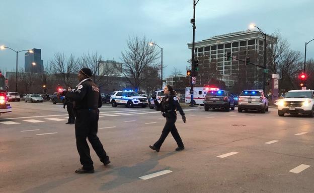 ארוע ירי בבית חולים בשיקגו (צילום: AP, חדשות)