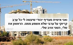 מחאה בבניין נגד השכרת דירות לערבים (צילום: 123rf, חדשות)