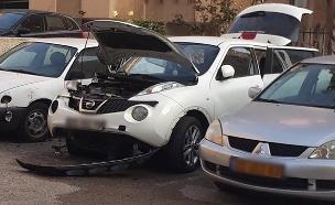 """פיצוץ רכב קצינת שב""""ס בחודש שעבר (צילום: חדשות)"""