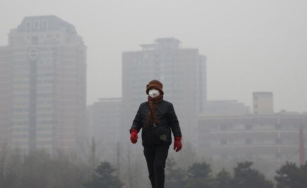 """""""חלון ההזדמנויות מצטמצם"""". זיהום אוויר בסין (צילום: רויטרס, חדשות)"""