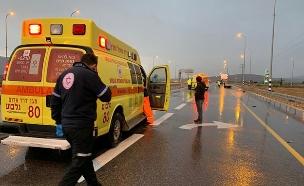 """זירת התאונה בכביש 71 (צילום: תיעוד מבצעי מד""""א, חדשות)"""