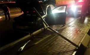 """זירת התאונה בערד (צילום: מד""""א, חדשות)"""