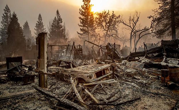 חורבות העיירה פרדייס, החודש (צילום: AP, חדשות)