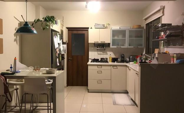 דירה ברמת השרון, עיצוב מיכל וולפסון, לפני שיפוץ, מטבח (צילום: מיכל וולפסון קלמן)
