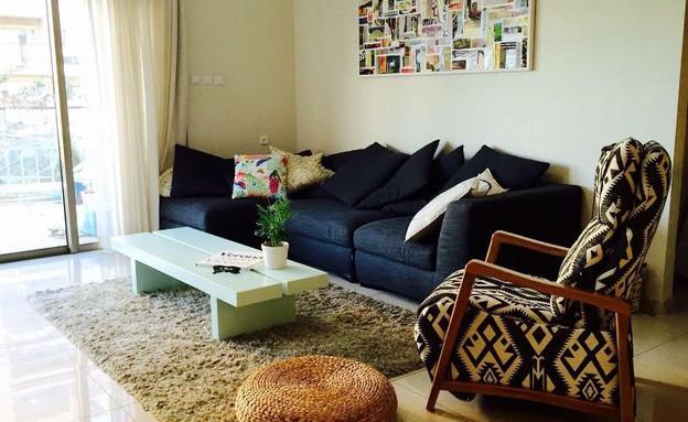 דירה ברמת השרון, עיצוב מיכל וולפסון, לפני שיפוץ, סלון (צילום: מיכל וולפסון קלמן)