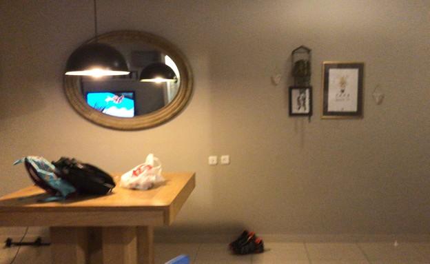 דירה ברמת השרון, עיצוב מיכל וולפסון, לפני שיפוץ, פינת אוכל (צילום: מיכל וולפסון קלמן)