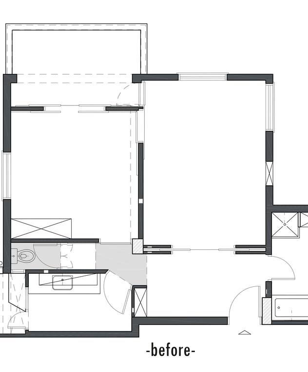 דירה בתל אביב, עיצוב דנה ברוזה, לפני שיפוץ
